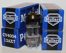Mullard CV4004 / 12AX7 / ECC83 pre-amp tubes,Reissue, NEW, Matched Quad