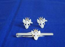 MERCIAN REGIMENT CUFF LINK AND TIE GRIP / CLIP SET