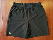 EUC Lacoste Sport Mens Black Stretch Sports Gym Hike Jog Run Tennis Shorts Large