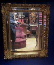 ancien miroir epoque regence XVIIIe en bois doré a pares closes Louis XV  glace