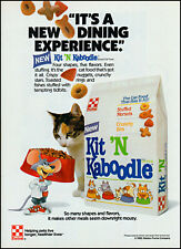 New listing 1989 Cat & animated Mouse Kit 'N Kaboodle cat food retro photo print ad ads30