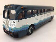 Corgi 98473 Yellow Coach 743 Bus - Waves, WW II US Navy Recruitment Promo 1:50