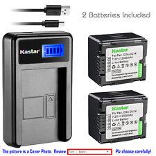 Kastar Battery LCD Charger for Panasonic CGR-DU14 CGA-DU14 & NV-GS230 NV-GS250