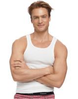 5 Pack Hanes Big Men's White A-Shirt Tank Wire Beater Undershirt Size 2XL-3XL