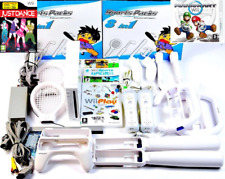 Wii Console Nintendo White 2 Remotes Games Mario Kart Wii Sports Play Just Dance