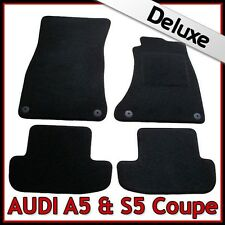 Audi A5 Coupe Mk1 2007-2016 Tailored LUXURY 1300g Fitted Carpet Car Mats BLACK