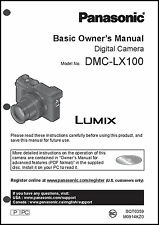 Panasonic DMC-LX100 Basic  Digital Camera User Guide Instruction  Manual