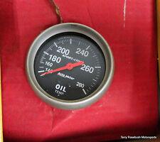 "Auto Meter 3441 Sport-Comp Oil Temp Gauge, 2-5/8"" Dia, 140-280°F Range,"