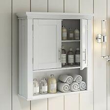 Bathroom Storage Wall Cabinet Medicine Chest 2 Door Display Shelf Kitchen Spice