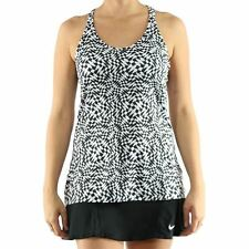 NEW NIKE WOMEN'S GET FIT CHECKER RUNNING RACERBACK TANK TOP 685162 SIZE X-SMALL