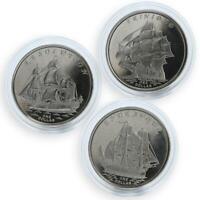Gilbert Islands set of 3 coins Ships Resolution Endeavour Trinidad 2014