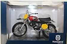 HUSQVARNA mx400 1970 ABERG REPLICA 1:12 SCALA DIECAST MODELLO BIKE Regalo Di Natale Ideale