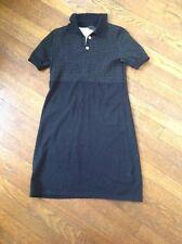 Theory Black Dotted  Empire Waist Short Sleeve Mini Dress Sz S