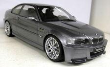 OTTO SCALA 1/18 OT177 BMW M3 E46 CSL METALLICO GRIGIO AUTO MODELLO in resina