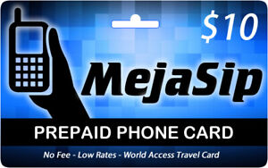 MejaSip Prepaid Phone Card - USA & Latin America - Low Rates