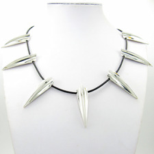 Black Panther Necklace Pendant Metal Movie Cosplay Silver Shiny Costume New