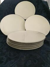 "Flintridge China~Made In California, Bellmere Pattern ~ (8) 8 3/8"" Salad Plates"