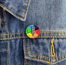 FU* *  ME!  Rainbow Wheel Humor Enamel Pin Badge Free P&P