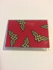 Wonder Woman logo Slim Wallet Gift Card Case or holder: Credit Bus Subway Metro