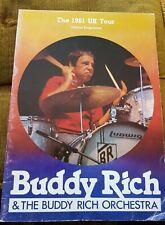 BUDDY RICH 1981 UK (Large) Tour Programme  -
