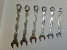 Vintage Sears ( Craftsman ) 6 Piece Combination Wrench Set  Made in JAPAN