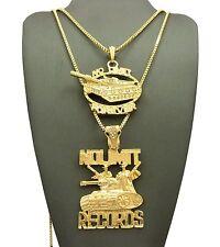 NO LIMIT FOREVER & NO LIMIT RECORDS PENDANT &BOX CHAINS NECKLACE SET - RC1971G