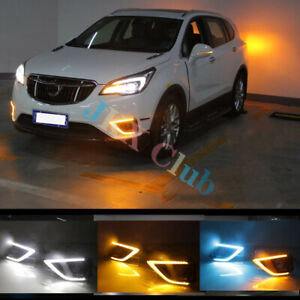 For Buick Envision 19-20 Pair LH +RH LED DRL Daytime Running Light Turn Signal o