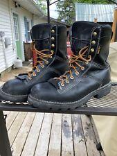 Danner Quarry 10.5D Gore-tex Alloy Toe USA made. Black Boots 14504