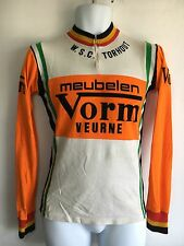 Vintage RAXAR WSC Torhout Meubelen Vorm Veurne Racing Team Cycling Jersey Orange