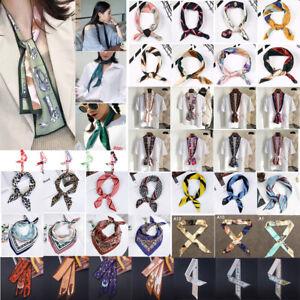 Women Skinny Scarf Satin Faux Silk Long Slim Ladies Satin Ribbon Thin Scarves
