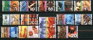 Hong Kong 2002, Scott # 998 - 1005, 1007 -1009.1011, 1012, syncopated, used.