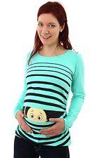 Lustige Umstandsmode T-Shirt mit Motiv Schwangerschaft Geschenk Guck Guck MMC