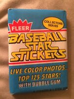 1981 Fleer Baseball Star Stickers Card Pack Jim Rice Red Sox Showing Back