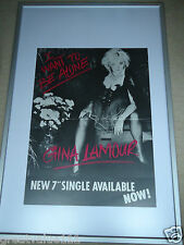 GINA LAMOUR POSTER 1983 ORIGINAL MUSIC POSTER I WANT TO BE ALONE 40 INCHS GEM