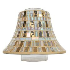 Gold Leaf Lustre Mosaic - Candle Lamp G24764