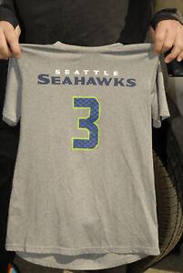 Russell Wilson Seattle Seahawks t shirt jersey youth large QB NM all pro