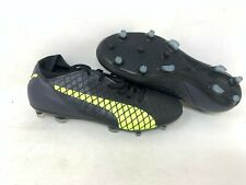 NEW! Puma Men'a Future Lace Up Soccer Cleats Black/Yellow #104344 A25 z
