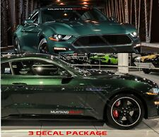 WINDSHIELD & DOOR DECALS COMPATIBLE FORD MUSTANG BULLITT (3 DECAL PACKAGE)