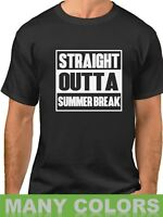 Men's Straight Outta Summer Break Shirt Back To School T-Shirt College Gift Tee