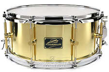 Canopus 'The Brass' Snare Drum 14x6.5 w/ Flanged Hoops - B-1465-PH