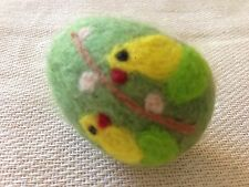 Needle Felted Easter egg. Great Easter decoration. Chickens - OOAK