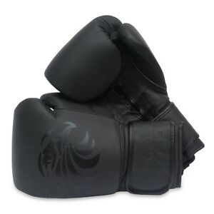 Pro Leather Boxing Gloves 8oz - 16oz Punch Bag Sparring Fight MMA Muay Thai