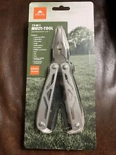 Ozark Trail 12 in 1 Multi Tool Wire Cutter Screwdriver Knife Etc Sheath Included