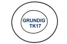 SET CINGHIE GRUNDIG TK 17 REGISTRATORE A BOBINE BOBINA NUOVE FRESCHE TK17 BELT