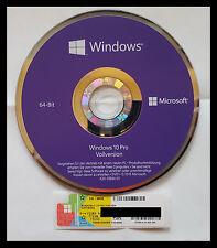 Windows 10 professional COA Aufkleber Key , DVD 64Bit Deutsche OEM