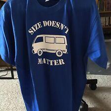 Size Doesn't Matter Classic VWCampervan Men's T-Shirt Size L. NEW
