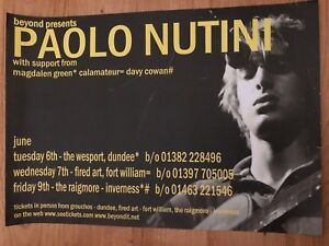 Paolo Nutini - Concert / Gig poster ,Dundee, Inverness & Fort William, June 2006