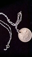 Vintage Lucky Sixpence Coin Silver Necklace Jewellery Unique Gift