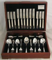 HARLEY Design E L PINDER Sheffield Silver Service 44 Piece Canteen of Cutlery