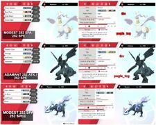 Pokemon Sword Shield /  ALL 3 SHINY Reshiram  Zekrom Kyurem Legendary bundle 6IV
